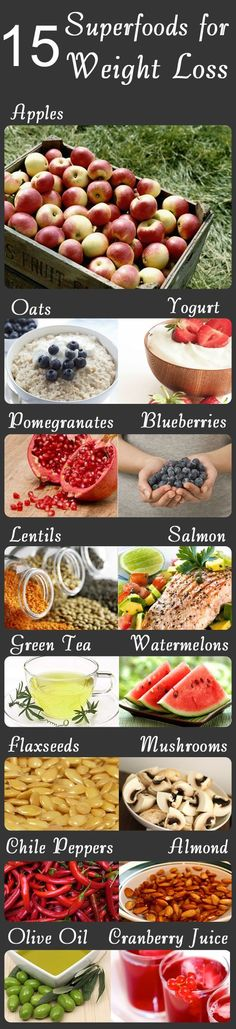 15 Superfoods For Weight Loss #healthy