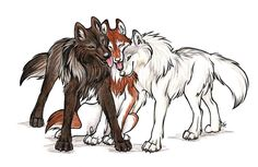 So In Love With Two by WildSpiritWolf Dog art Animal drawings Wolf drawing