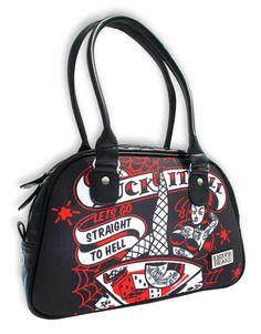 rockabilly purses | NEW-WOMENS-ROCKABILLY-BAG-BOWLING-PURSE-RETRO-VINTAGE-KUSTOM-KULTURE ...