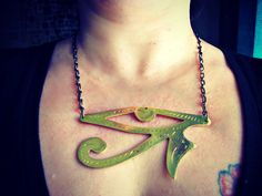 Hey, I found this really awesome Etsy listing at https://www.etsy.com/listing/121371430/eye-of-horus-necklace-huge-centerpiece