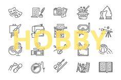Hobby icons set by mayrum on @creativemarket