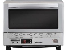 Panasonic Flash Xpress Toaster Oven provides very efficient cooking performance. faster than convection toaster ovens. Small Appliances, Kitchen Appliances, Kitchen Tools, Kitchen Dining, Countertop Oven, Best Oven, Safety Valve, Digital Timer, Küchen Design