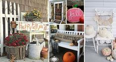 Right from glorious colorful pumpkins to handmade front door leafy wreaths, these fall porch decor ideas deserve to be given a shot this season. #SkinWhiteningHowToMake