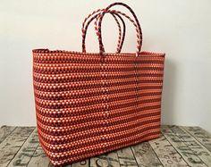 Bolsa Mexicana XL, hecho en Oaxaca, bolsa tejida a mano, bolsas de plástico