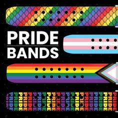 June is Pride Month and we're kicking it off with our new line of Pride Watch Bands! Sports Organization, Leather Watch Bands, Watch Brands, Cool Watches, Pride, June, Leather Wristbands