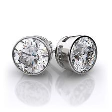 These are timeless classic round brilliant cut diamond stud earrings set in white gold. This studs have a choice of a secure screw back or friction back setting. For an additional cost we offer lever back, bezel set or alpha backs. The diamonds are H- Diamond Earrings, Stud Earrings, G 1, Fashion Earrings, Round Diamonds, Jewelry Stores, White Gold, Bling, Engagement Rings