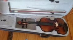 ADM 4/4 1/2 Size Wood Acoustic Violin Outfit with Ebony Fitted and Violin Hard…
