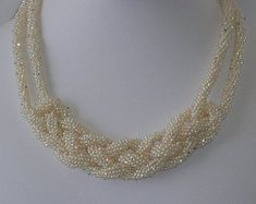 celtic woven kumihimo rope pearl necklace by pearlweaver Ideas Joyería, Jewelry Crafts, Handmade Jewelry, Beaded Jewelry Patterns, Bijoux Diy, Seed Bead Jewelry, Schmuck Design, Beads And Wire, Celtic Knot