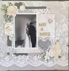 This stunning Collection has been used to create Wedding Invitations, Christening Announcements, and Wedding Albums due to its soft tones. We have found some gorgeous layouts created by Denise Holm… Wedding Scrapbook Pages, Scrapbook Cards, Scrapbook Albums, Scrapbook Designs, Scrapbook Page Layouts, Scrapbooking Ideas, Create Wedding Invitations, Wedding Cards Handmade, Wedding Book