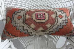DESCRIPTION:  1- The pillow cover desinged and produced by me and it is unused. 2- Its size is 12 x 24, 30cm x 60cm 3- Made from vintage handwoven authentic Turkish Anatolian Kilims 4- Front side is made from a vintage hand-woven 100% Wool Turkish kilim rug 5- The backing is cotton fabric with hidden zipper. 6- Insert in not included. For demonstration only.  Easy Payment Methods: I accept all major credit/debit cards over PAYPAL.You may pay with Paypal without setting up a Paypal accou...