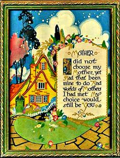 Art Form of Mary Engelbreit on Storybook Cottage, Cottage Art, Mary Engelbreit, Mothers Love, Happy Mothers Day, Vintage Cards, Vintage Images, Miss You Mom, Papi