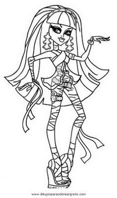 Desenhos para Colorir de Monster High Online Draculaura, Frankie Stein