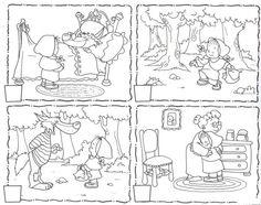fichas de trabalho sobre historia capuchinho vermelho - Pesquisa do Google