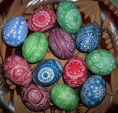 Engraved Easter Eggs by Chenria.deviantart.com on @DeviantArt