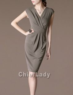 Commuters Work Dresses Office Wear Elegant Women by Chieflady