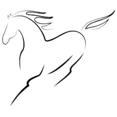 Collection of Horse Line Drawing Abstract Simple Line Drawings, Easy Drawings, Simple Horse Drawing, Horse Sketch, Horse Silhouette, Horse Drawings, Wire Art, Simple Lines, Rock Art