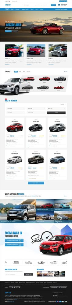 Micar is clean and modern design responsive #WordPress theme for #Car and auto #dealer eCommerce website to live preview & download click on Visit