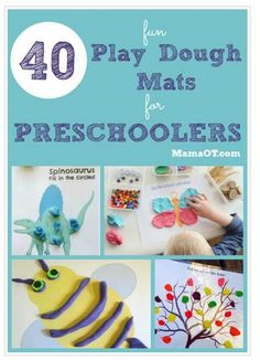 OT Corner: Great Collection! 40 Free Play Dough Mats for PreSchoolers-pinned by @PediaStaff – Please Visit ht.ly/63sNtfor all our pediatric therapy pins