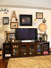 Lookie What I Did: Picture Gallery Wall in Family Room