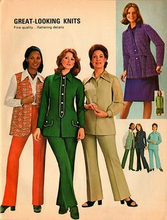 [Everyone wore something similar to this. Those pantsuits were cool...sorta] Fashion - DECADE STUDY
