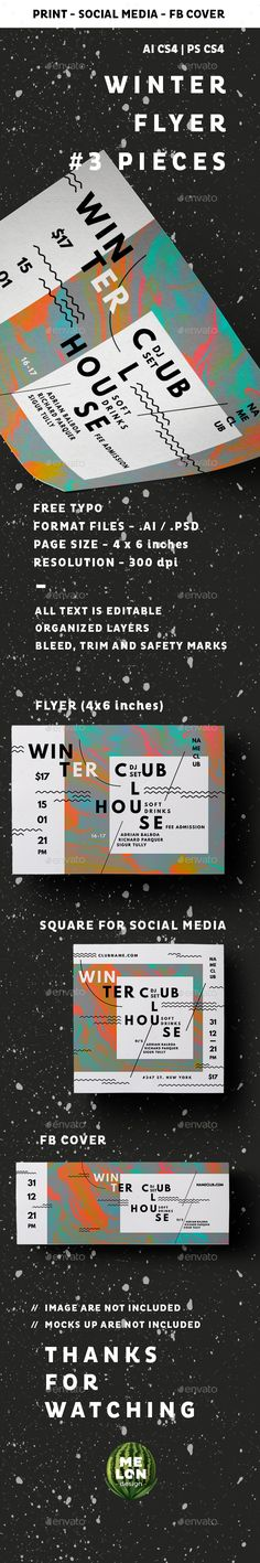 Winter Club House — Photoshop PSD #season #4x6 • Download ➝ https://graphicriver.net/item/winter-club-house/19364281?ref=pxcr
