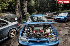 Wow... shaved & tucked Subaru engine bay Subaru