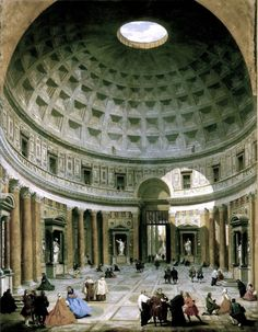 Giovanni Paolo Panini, Interior of the Pantheon, Rome, Italy, c. 1750    Color Illustrations | 452