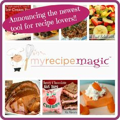 My Recipe Magic- the newest website from SixSistersStuff.com. An online recipe sharing community with so many features (make your own cookbook, nutrition info, Weight Watchers points, search by ingredients you have available, etc). Also, make money by sharing your recipes on the site (whether you are a blogger or not!). MyRecipeMagic.com