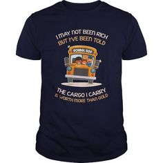 The Cargo I Carry Is Worth More Thank Gold School Bus Driver Gift T Shirts, Hoodies Sweatshirts. Check price ==► https://www.sunfrog.com/Jobs/The-Cargo-I-Carry-Is-Worth-More-Thank-Gold-School-Bus-Driver-Gift-Navy-Blue-Guys.html?57074