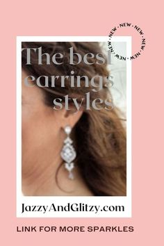 Earrings are the leading wedding decoration! In all other cases, earrings are a must - they make the wedding look complete. New Mens Fashion, Wedding Looks, Bridal Earrings, Diamond Earrings, Wedding Decorations, Sparkle, Cases, Jewelry, Design