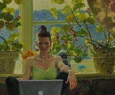 """"""" Her Apple """" By David P. Hettinger My friend Jordan working on her laptop. Love the light at 4:00 pm in June. http://davidhettinger.com/"""