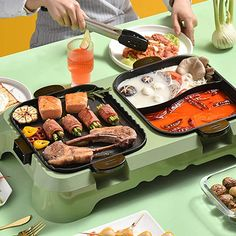 Korean Bbq At Home, Korean Bbq Grill, Indoor Grill, Teppanyaki, Mini Kitchen, Non Stick Pan, Hot Pot, Kitchen Essentials, Cooking Tools