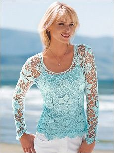 I've always loved crochet tops and this one is a beauty. One similar to this would like nice on my slimmer body.