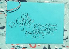 Watercolor Wedding Calligraphy: I work remotely with clients in or out of state