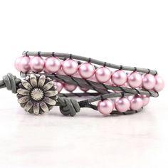 Pink Pearl Wrap Bracelet