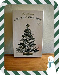 Mid Century Revolving Christmas Card Tree by AtomicKittenVintage