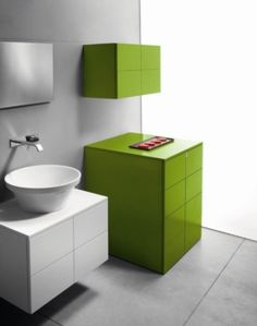 Mobile bagno sospeso con lavabo semincasso N03 - Atlantic | bath ...