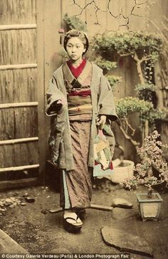 Normal people: Many of Beato's Japanese photos feature ordinary people going about their daily lives