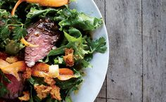 Steak Salad with Caraway Vinaigrette and Rye Croutons / Christina Holmes