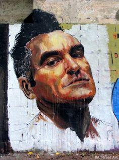 Morrissey street art in Buenos Aires, Argentina by El Marian via buenosairesstreetart.com.