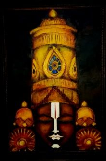 Buy Yellow oil Painting by artist Kattamanchi on canvas, Religious based on theme Art Kattamanchi. Size is 36 × 24 × 0 in. Shipping is from India. Authenticity certificate will be provided for original artworks. Lord Shiva Painting, Krishna Painting, Krishna Art, Lord Murugan Wallpapers, Lord Vishnu Wallpapers, Kerala Mural Painting, Indian Art Paintings, Pop Art Images, Lord Balaji