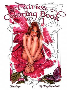 Fairies Coloring Book #1 - 20 beautiful fairy images to color, by artist Marjolein Gulinski.