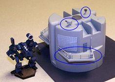 CAV Terrain Part I: Plastic Sci-Fi Buildings by Dewen