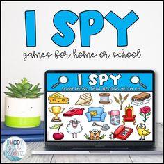 Kindergarten Games, Preschool Games, Classroom Activities, Classroom Ideas, Virtual Games For Kids, Virtual Class, I Spy Games, Class Games, Workshop