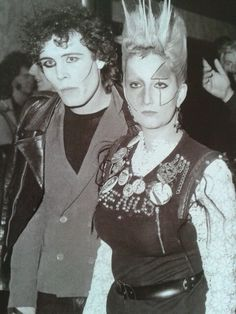 Adam Ant with punk fasion icon Jordan at the premiere of Saturday Night Fever at the Empire Leicester Square 1978.