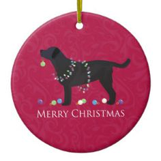Labrador Christmas Ornament Black Lab Dog Lover Gifts Dog Gifts Dog Lovers Chocolate