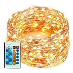 xtf2015 Outdoor LED String Lights Flexible Dimmable Copper Wire Lights 99ft30m 300LEDs Waterproof Starry String Lights with Remote Control for Garden Room Wedding and Party  Warm White >>> Learn more by visiting the image link.
