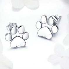 Earring Type: Stud EarringsMetals Type: SilverShape\pattern: AnimalBack Finding: Screw-backGender: WomenMaterial: Silver Plated Occasion: Anniversary,Gift,PartyPackaging: Only one free Jewelry Box for each parcel to protect the Earrings Pet Dogs, Dog Cat, Cat Footprint, Footprints, Women's Earrings, Anniversary Gifts, Sterling Silver Jewelry, Jewelry Box, Cats