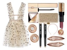 """The Perfect Prom Night"" by miica-olavarria ❤ liked on Polyvore featuring Clarins, Calvin Klein, Bobbi Brown Cosmetics, Oscar de la Renta, Nicholas Kirkwood, Valentino, Roberto Coin, PROMNIGHT and FashionSetOfTheDay"