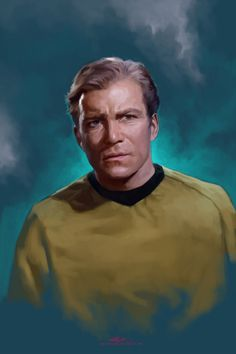 Painting of 'William Shatner' as 'Captain James T. Kirk' in 'Star Trek'